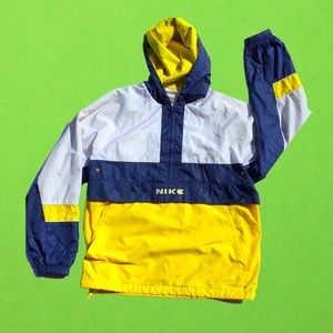 Vintage Nike color blocking windbreaker pull over